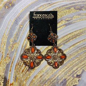 Francesca's. Filigree Drop Earrings.
